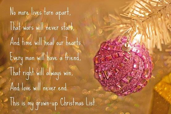 Christmas Favorites – My Grown Up Christmas List