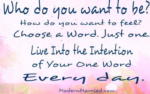 Choose. One. Word.