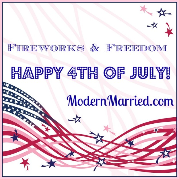 happy 4th of july from modern married.com
