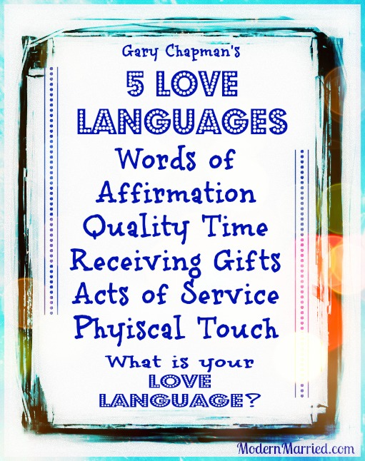 gary chapman's 5 love languages, www.modernmarried.com