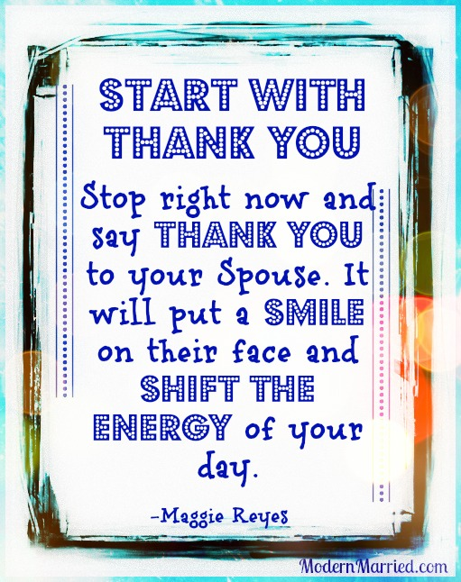 the power of gratitude, marriage, love, relationships, thank you, www.modernmarried.com