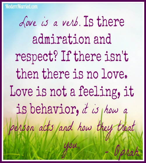 Oprah love is a verb quote