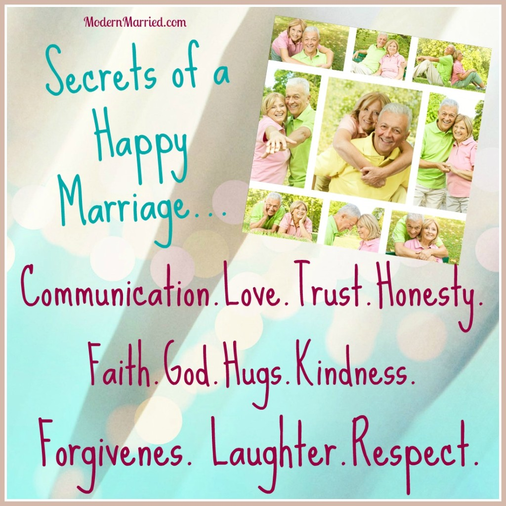 25 secrets to a happy marriage