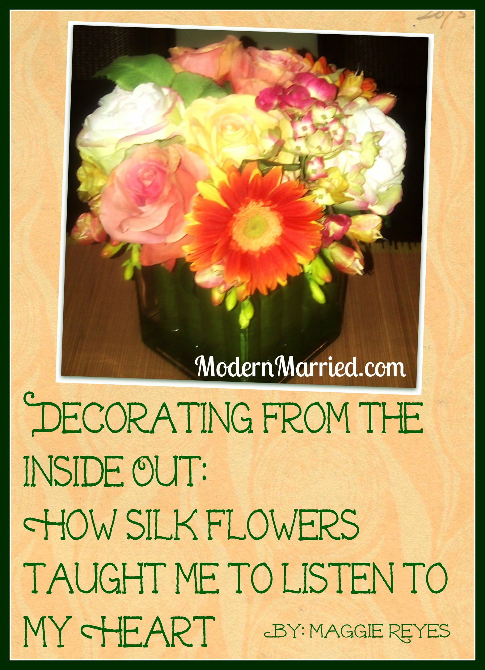 silk flowers, marriage blog