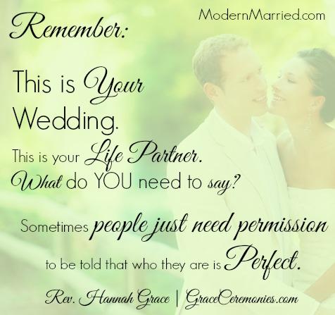 Wedding Ceremony Spiritual Bride Vows Blessing
