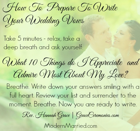 Write Your Own Wedding Vows Marriage Reciate Spouse