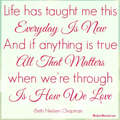 how we love lyrics beth nielsen chapman