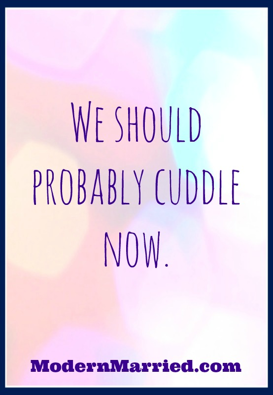 let's cuddle modernmarried.com