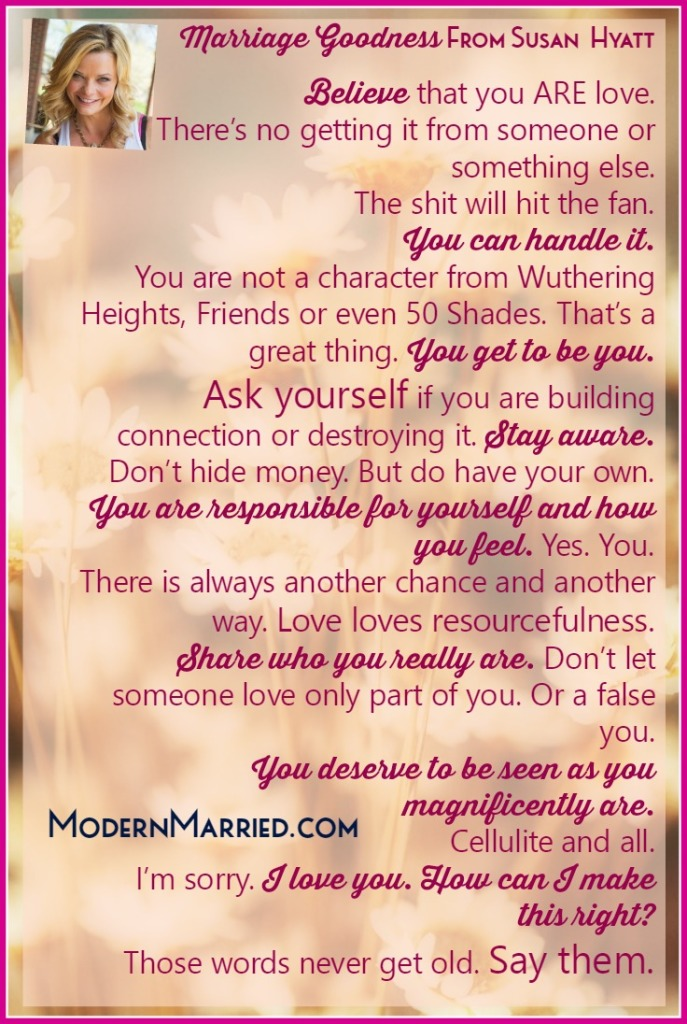 Marriage Manifesto from Susan Hyatt on ModernMarried.com
